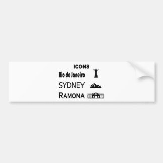 Icons-Rio-Sidney Bumper Sticker