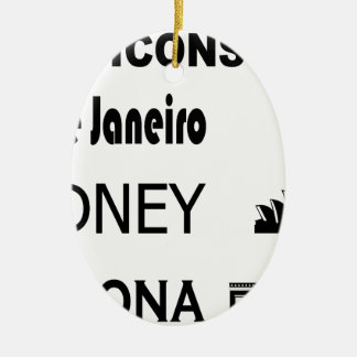 Icons-Rio-Sidney Ceramic Ornament