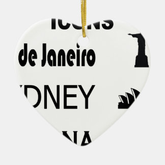 Icons-Rio-Sidney Ceramic Ornament