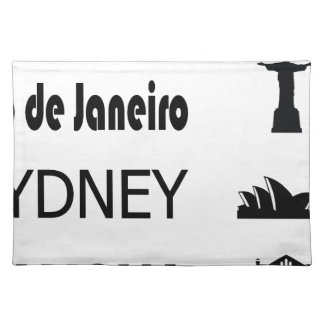 Icons-Rio-Sidney Placemat