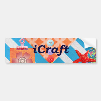 iCraft Scrapbooking and Buttons Craft Gifts Bumper Sticker