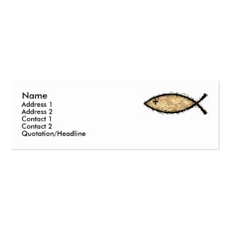 Icthus Fish business or social card Business Card