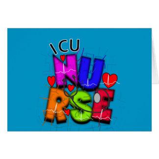 ICU Nurse Gifts, Artsy QRS design Card