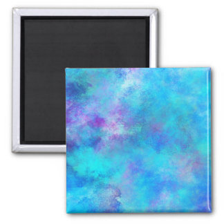Icy Blue Abstract Design Refrigerator Magnet
