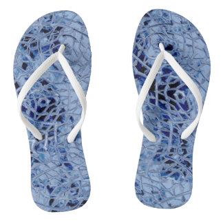 Icy Blue Flip Flops