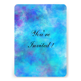 Icy Blue Personalized Invitations