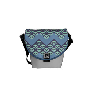 Icy Blue Skulls Commuter Bags