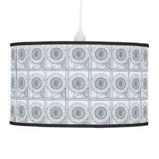 Icy Blue Sunflower Pendant Lamp