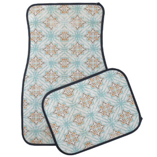 Icy Blue Tan Cream Rust Car Floor Mats Floor Mat