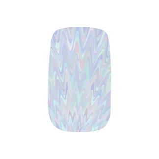 Icy Blue Waves Minx Nail Art