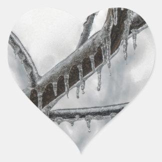 Icy Branch Heart Sticker