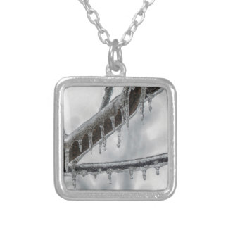 Icy Branch Silver Plated Necklace