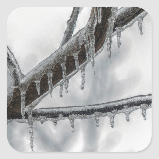 Icy Branch Square Sticker
