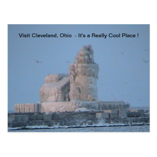 Icy Cleveland Harbour Postcard
