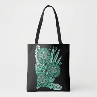 Icy Green Gerbera Daisy Flower Bouquet Tote Bag