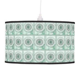 Icy Green Sunflower Pendant Lamp