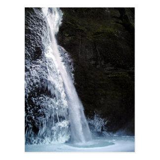 Icy Horsetail Falls Postcard