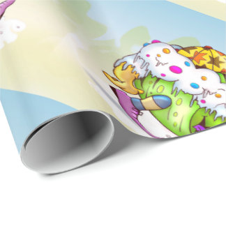 ICY JUICY ALIEN CUTE MONSTER Wrapping Paper
