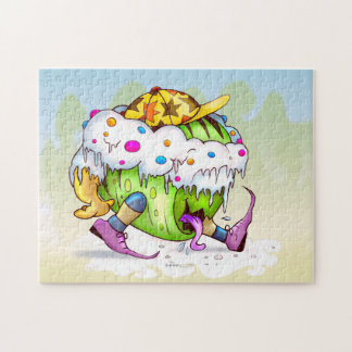 ICY JUICY CUTE ALIEN MONSTER PUZZLE 11 X 14 2