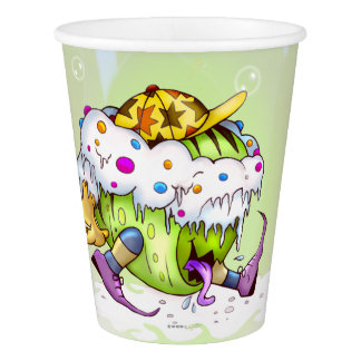 ICY JUICY MONSTER ALIEN CARTOON PAPER CUP