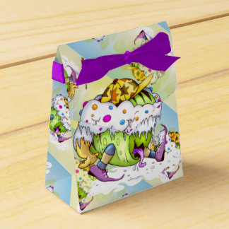 ICY JUICY MONSTER ALIEN Tent with Ribbon Favor Box