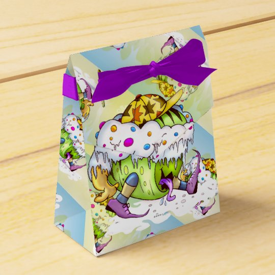 ICY JUICY MONSTER ALIEN Tent with Ribbon Favour Favor Box
