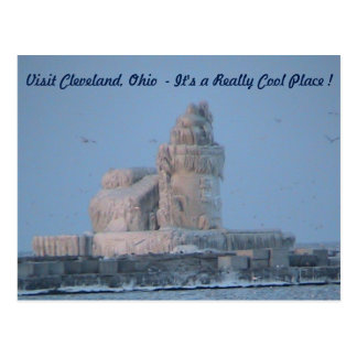 Icy Lighthouse (Visit Cleveland) Postcard
