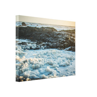 Icy Rocky Surf Canvas Print