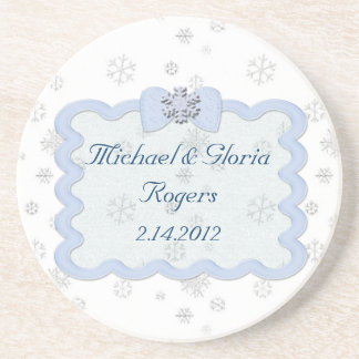 Icy Snowflake Celebration Coaster