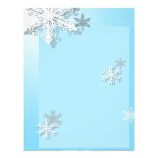 Icy Snowflake Letterhead Stationary
