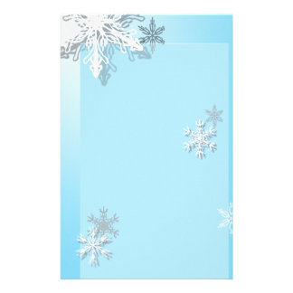 Icy Snowflake Stationary Stationery Paper