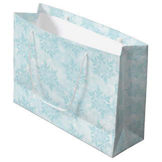 Icy Snowflakes Large Gift Bag