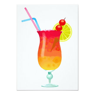 Icy Tropical Rum Punch 5x7 Paper Invitation Card