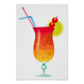 Icy Tropical Rum Punch Poster
