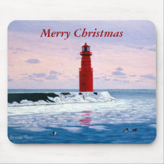 Icy Waters Christmas Mousepad