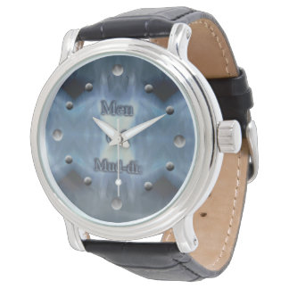 Icys Blue Darts Men Leather Watch