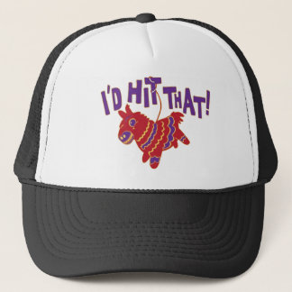 I'd Hit That Softball team gear Trucker Hat