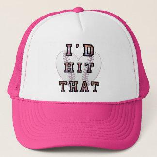 Id hit that softball trucker hat