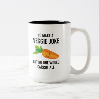 I'd Make A Veggie Joke Two-Tone Coffee Mug