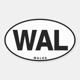 ID Oval WAL Wales Oval Sticker