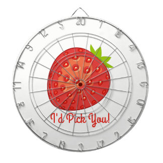 """I'd Pick You!"" Strawberry Dartboard"
