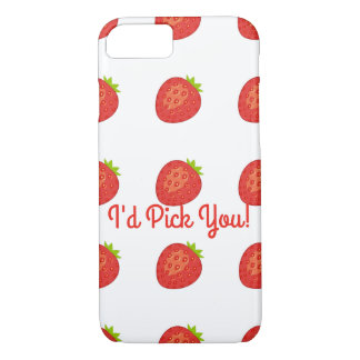 """I'd Pick You!"" Strawberry IPhone 7/8 Barely There iPhone 8/7 Case"