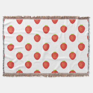 """""""I'd Pick You!"""" Strawberry Throw Blanket"""