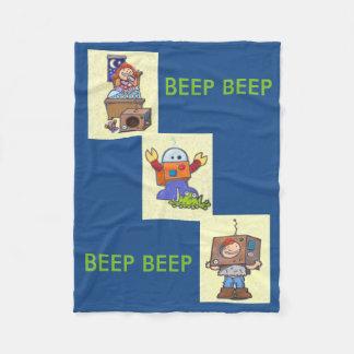 I'd Rather Be A Robot Blankie Fleece Blanket