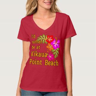 I'd Rather Be At Kikaua Point Beach, Hawaii T Shirt