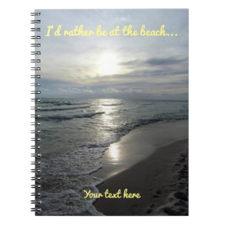 I'd Rather Be at the Beach Notebook