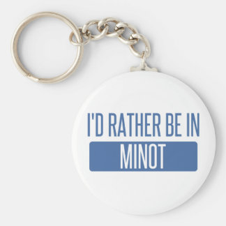 I'd rather be basic round button keychain