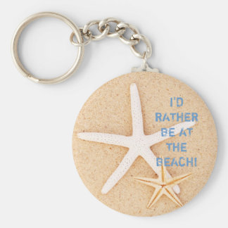 I'd Rather Be... Beach Keychain