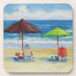 """I'd Rather Be Beaching"" Drink Coasters"