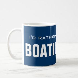 I'd rather be boating mug | motorboat design